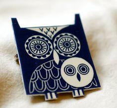 owls pin brooch | ruth broadway