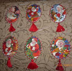 *These don't have patterns... Gallery.ru / 08755 - Spirit of Santa Koristeet - 08755 - Spirit of Santa Ornaments.Protsess.Podbor minun. - Verena