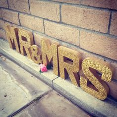 Hey, I found this really awesome Etsy listing at https://www.etsy.com/listing/184323755/mr-mrs-gold-sequin-letters