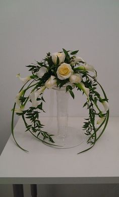 inverted crescent flower arrangements - Google Search