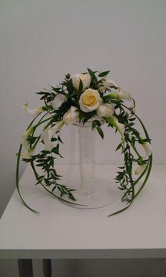 inverted crescent flower arrangements - Google Search