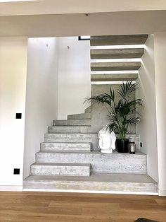 Home Decorating Tips On A Budget Home Stairs Design, Interior Stairs, Home Interior Design, Home Panel, Concrete Stairs, Stair Decor, Stairs Architecture, Modern Stairs, House Stairs