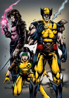 Gambit, Rogue, and Wolverine. X-Men