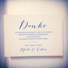 """91 Likes, 1 Comments - www.papierhimmel.com (@papierhimmel) on Instagram: """"sweet words #dankeskarte #hochzeit #hochzeitseinladung #hochzeitseinladungen #wedding…"""""""
