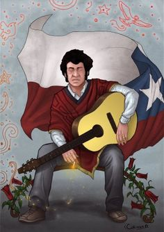 Víctor Jara foi professor, diretor de teatro, poeta, cantor, compositor, músico… Victor Jara, Losing My Religion, Chili, Protest Posters, Political Art, Abstract Logo, Imagine Dragons, Arctic Monkeys, Art Reference