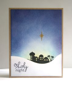Just popping in to share another Christmas card. I really love Paper Smooches A Blessed...
