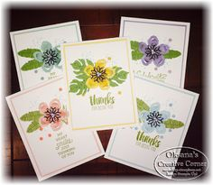 StampWithOksana.blogspot.com; Oksana's Creative Corner: Team Stamp It Spring Blog Hop; stampin up; Botanical Blooms Bundle; suite sayings stamp set