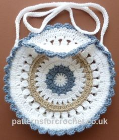FREE crochet pattern for a Round Shoulder Bag by Patterns For Crochet.