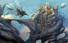 Sky City by ~EmanuelMardsjo on deviantART
