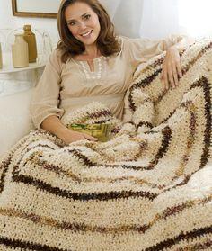 Textured Crochet Throw Crochet Pattern | Red Heart