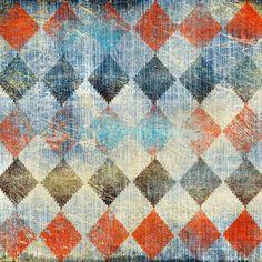7823 Colorful Diamond Checkers Backdrop