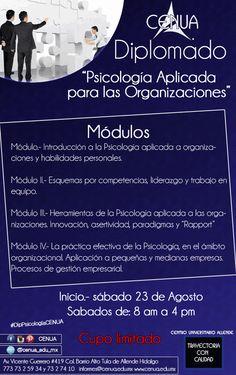 #Diplomado en #Psicología Organizacional CENUA