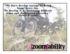 The Zoom all terrain mobility device turns challenges into triumphs. www.zoomability.com