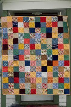 colors!  scrap fabric quilt