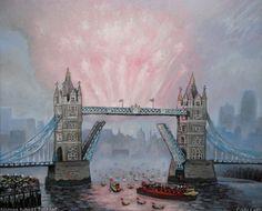 "Saatchi Art Artist Christophe Williart; Painting, ""Diamond Jubilee Pageant - DONATED"" #art"