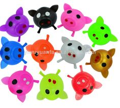 i have the light pink one with red nostals i love these things there called splad you throw them and thew and they stick to things but if you have a dog it dosnt work it gets full of hair