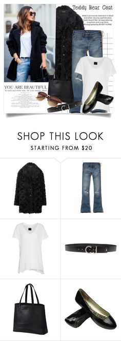 """""""Teddy Bear Coat"""" by clotheshawg ❤ liked on Polyvore featuring Hollister Co., RtA, Calvin Klein Jeans and SOREL"""