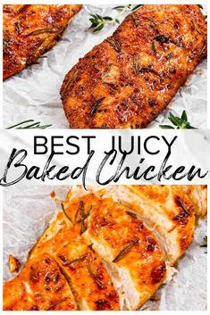 Juicy Baked Chicken Breast sprinkled with a delicious brown sugar and paprika se. - Juicy Baked Chicken Breast sprinkled with a delicious brown sugar and paprika seasoning, then baked - Chicken Thigh Recipes Oven, Fast Chicken Recipes, Ways To Cook Chicken, Easy Baked Chicken, Oven Chicken, Juicy Baked Chicken Breast Recipe, Baked Chicken Seasoning, Keto Chicken, Healthy Chicken