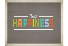 One Kings Lane - Refresh the Family Wall - Choose Happiness Print
