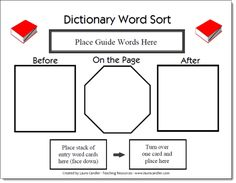 Dictionary Word Sort Game Board - Free from Laura Candler's Teaching Resources