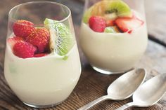 This coconut cream bowl comes from The Autoimmune Paleo Cookbook by Mickey Trescott. Topped with fresh summer fruits, it is perfect for a dessert or sweet snack!