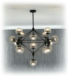 Jason Miller replica, Modo chandelier, 15 lights.