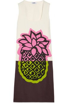 Moschino Cheap and Chic Printed cotton-canvas shift dress | THE OUTNET