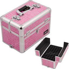 Lipstick organizer Nail polish case with drawer ider shoulder strap E338 Pink  sc 1 st  Pinterest & Storage Box Professional Tech Case Acrylic Train Sunrise Nail Polish ...