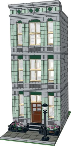 Passionate about MOC modular buildings Building Sand, Lego Building Blocks, Lego Design, Building Design, Modular Design, Building Ideas, Legos, Lego Creator Sets, Lego Pictures