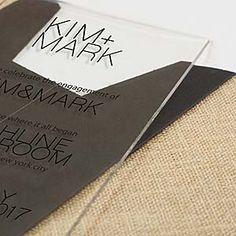 modern oversized acrylic wedding invitation