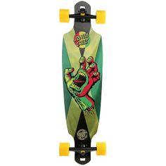 SANTA CRUZ SKATEBOARDS Rasta Hand Jammin Skateboard - Multi ($247) found on Polyvore