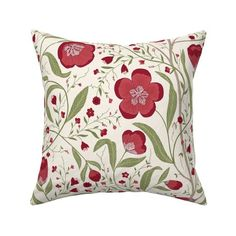 Mushroom Damask Throw Pillow Mushroom Forest by denesannadesign Floral  Forest Snail Ferns 18x18 Square Throw Pillow by Spoonflower