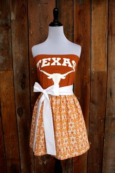 University of Texas Longhorns Game Day Dress on Etsy by Jill Be Nimble