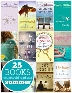 25 Books You Should Read This Summer - kick back and relax with a good beach read!