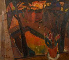 Gustave De Smet (Belgium 1877-1943) Window on the City, View of Amsterdam (c. 1917) oil 75 x 86 cm