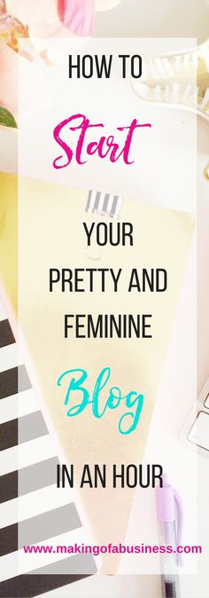 Have you been considering starting a blog but you don't even know where to buy a url or how to start?  I'll walk you through how to launch a Pretty and Feminine Blog in an hour.