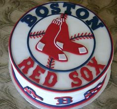 Boston Red Sox cake!!  Great for Birthday party, a groom's cake, or of course...World Series party!!!!  :)