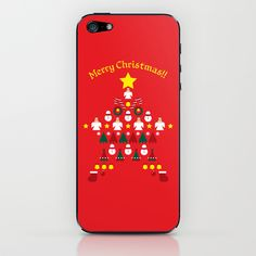 FLAT CHRISTMAS series -CHRISTMAS STAR_R iPhone & iPod Skin by SEOL.D - $15.00