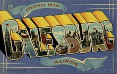 Post Card, Galesburg, Illinois also