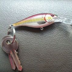 Why didn't we think of this. Take an old fishing lure and turn it into a key chain.