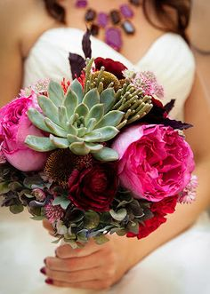 { Ask Cynthia } | Bright bouquet with succulents