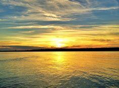 Delta sunset over the Mighty Mississippi River - taken from Catfish Point -Order prints from www.flatoutdelta.com -  © 2013 John Montfort Jones