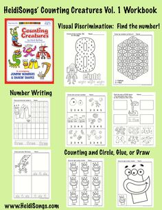 "For number writing practice, check out these ""Counting Creatures.""  Fun!"