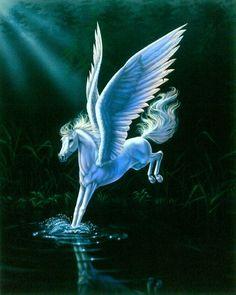 Alighting Artist Sue Dawe Unicorns Pegasus UniPeg Unicorn Fantasy Myth Mythical…