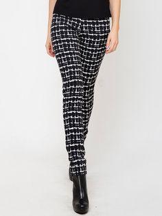 Shop Skinny Leg Pants - Black Casual Viscose Skinny Leg Pant online. Discover unique designers fashion at StyleWe.com.