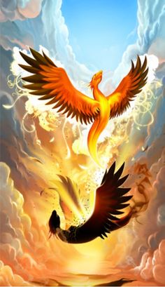 "The Mythological Bird Phoenix Tattoos | The Mythical Phoenix Rising . ""A mythical bird that never dies. From the ashes a new one rises. I'm so getting this!"
