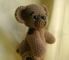 Thursday Handmade Love week 66 Theme: Teddy Bears Includes links to #free #crochet patterns  Mocha the posable bear PDF pattern ENGLISH via Etsy