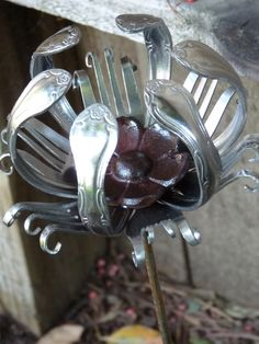 silveware flowers | Faire Notions: Friday's Favorite: Dan Shattuck - Repurposed Silverware