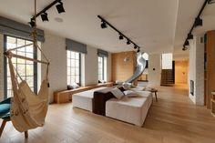 Appartement avec toboggan par KI Design - Journal du Design