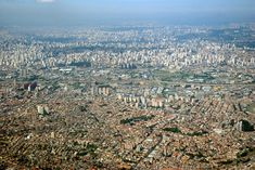 view by air Sao Paulo - Brazil